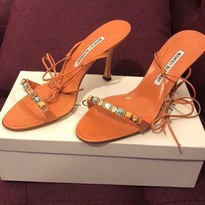 Manolo Blahnik jeweled heels